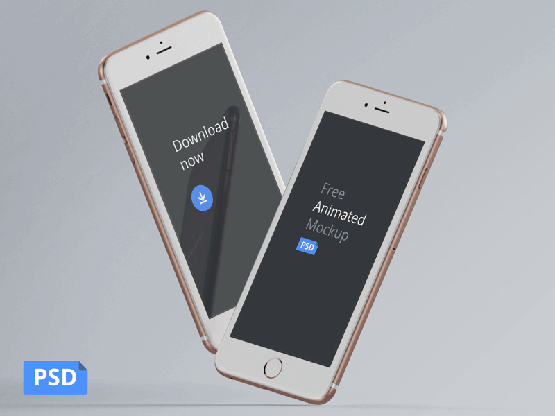 iPhone perspective mockup psd
