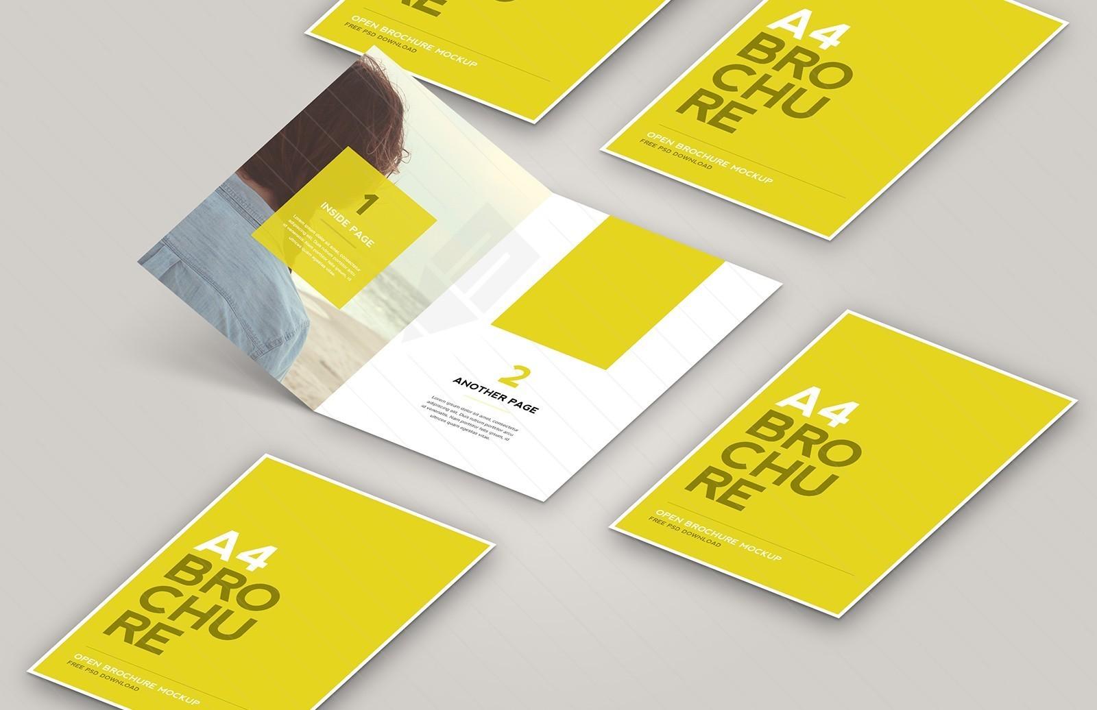Open Brochure Mockup