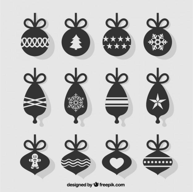 Flat Christmas Balls Collection