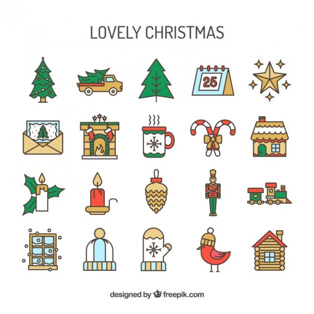 Lovely christmas icons