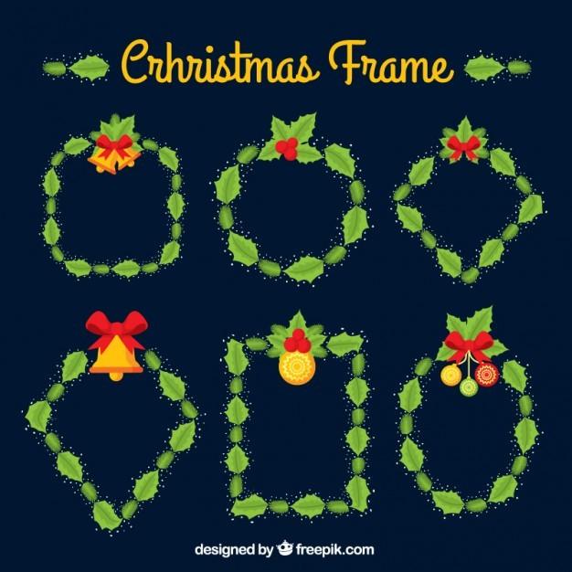 Christmas mistletoe frames