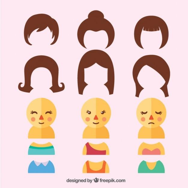 Customizable female characters