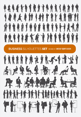 140 Business silhouettes collection