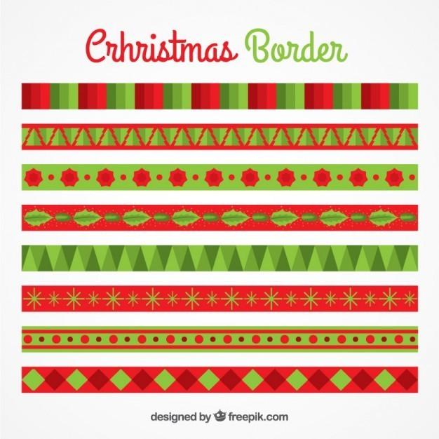 Geometric christmas borders