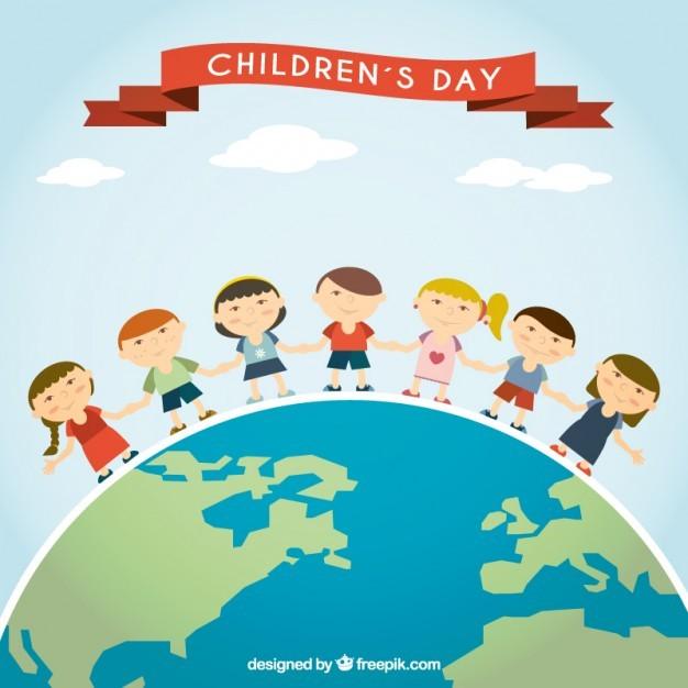 International children's day illustration