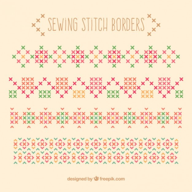 Sewing stitch borders