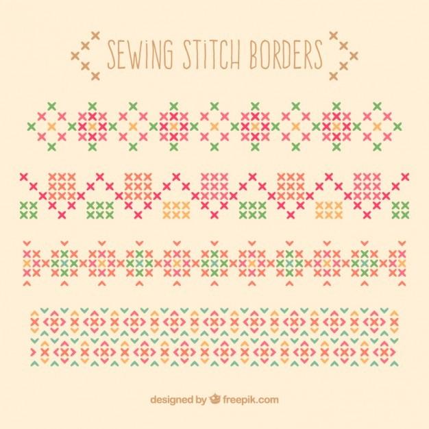 Sewing stitch borders