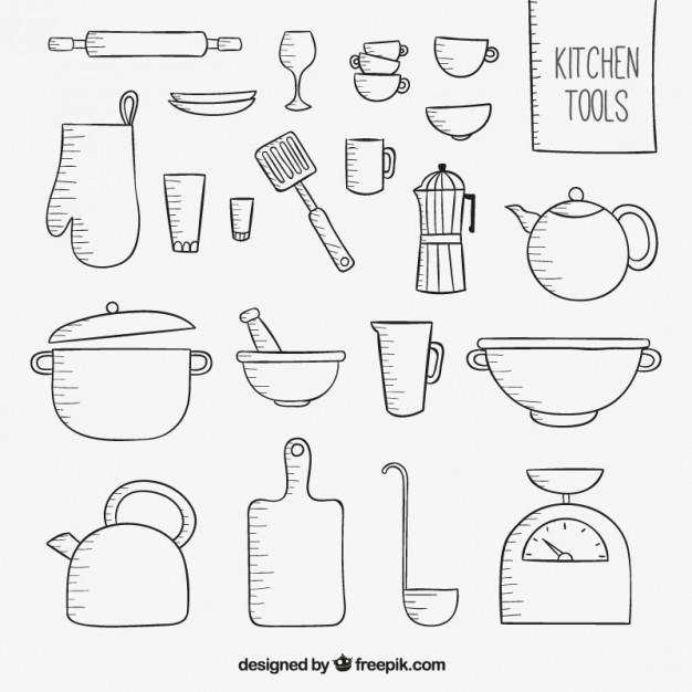 Sketchy kitchen tools