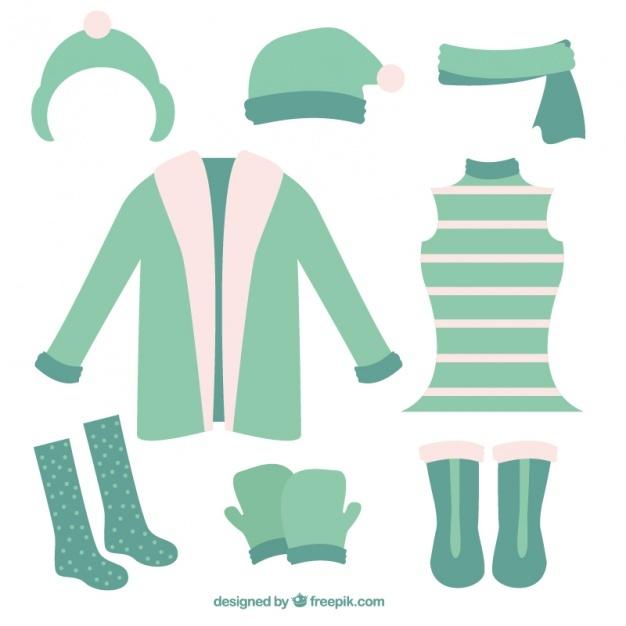 Cute winter clothes set