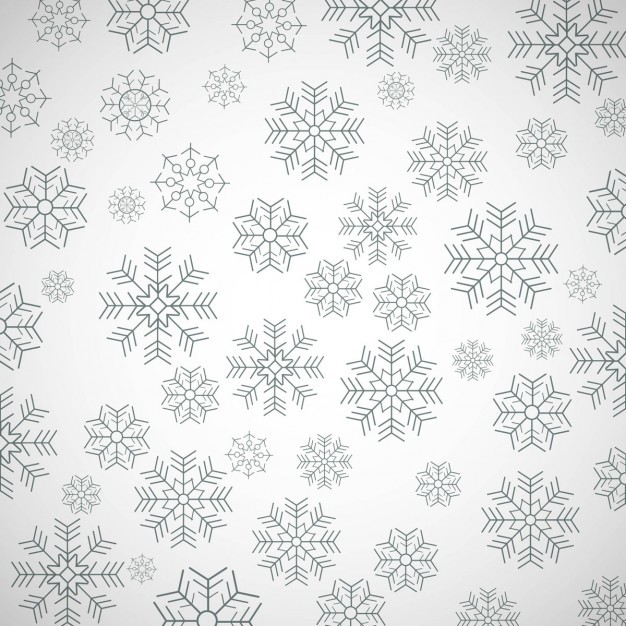 Simple pattern with snowflakes