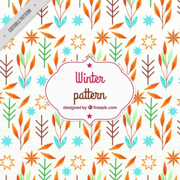 Watercolor winter pattern