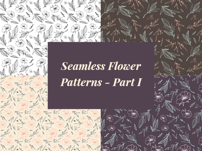 Free Seamless Flower Patterns (Vector Ai)