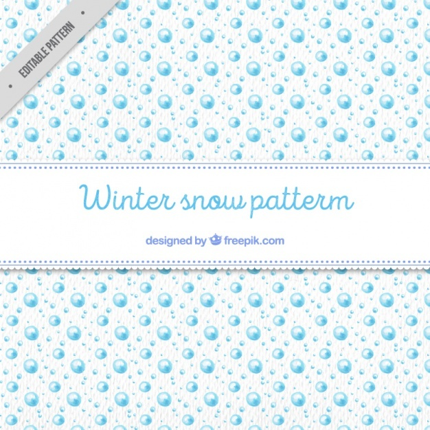 Watercolor winter snow pattern
