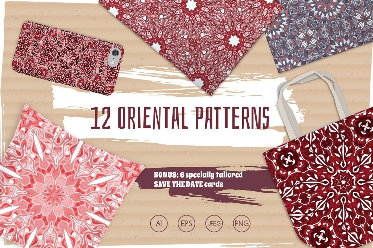 SEAMLESS ORIENTAL PATTERNS FREEBIE