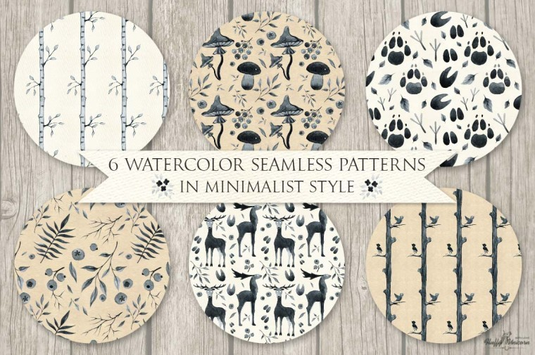 WATERCOLOR MINIMALISM PATTERNS