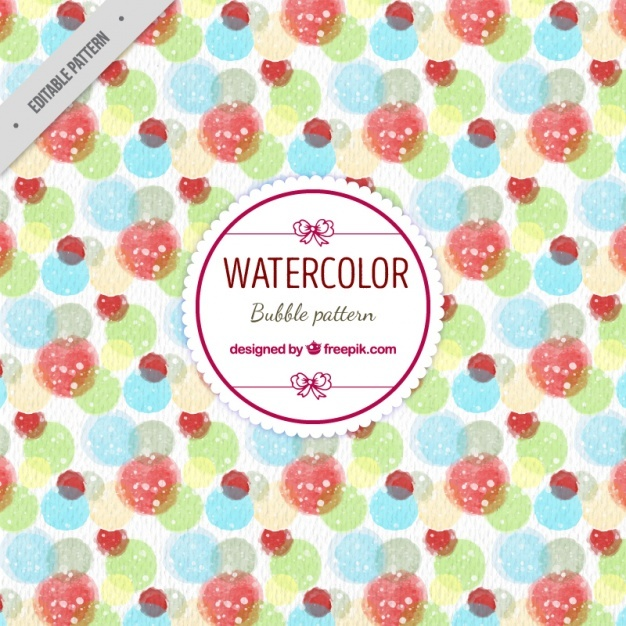 Watercolor bubble pattern