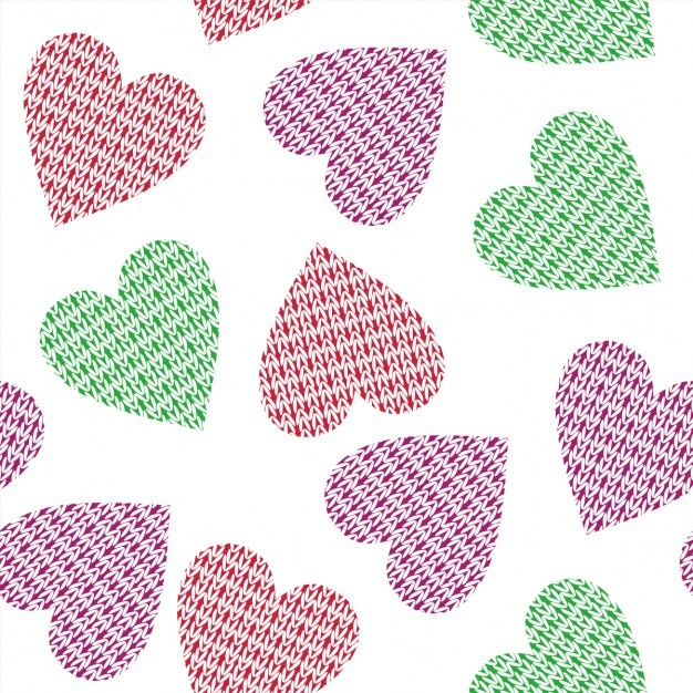 Pattern with fabric hearts