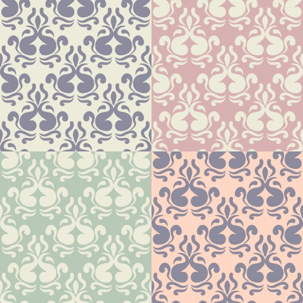 Cute damask pattern collection