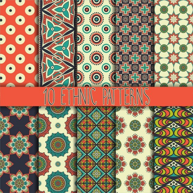 Ten ethnic patterns