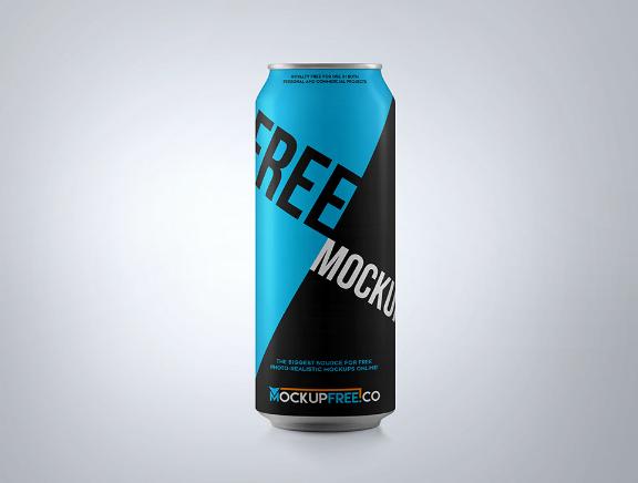 Soda Can Mockup PSD
