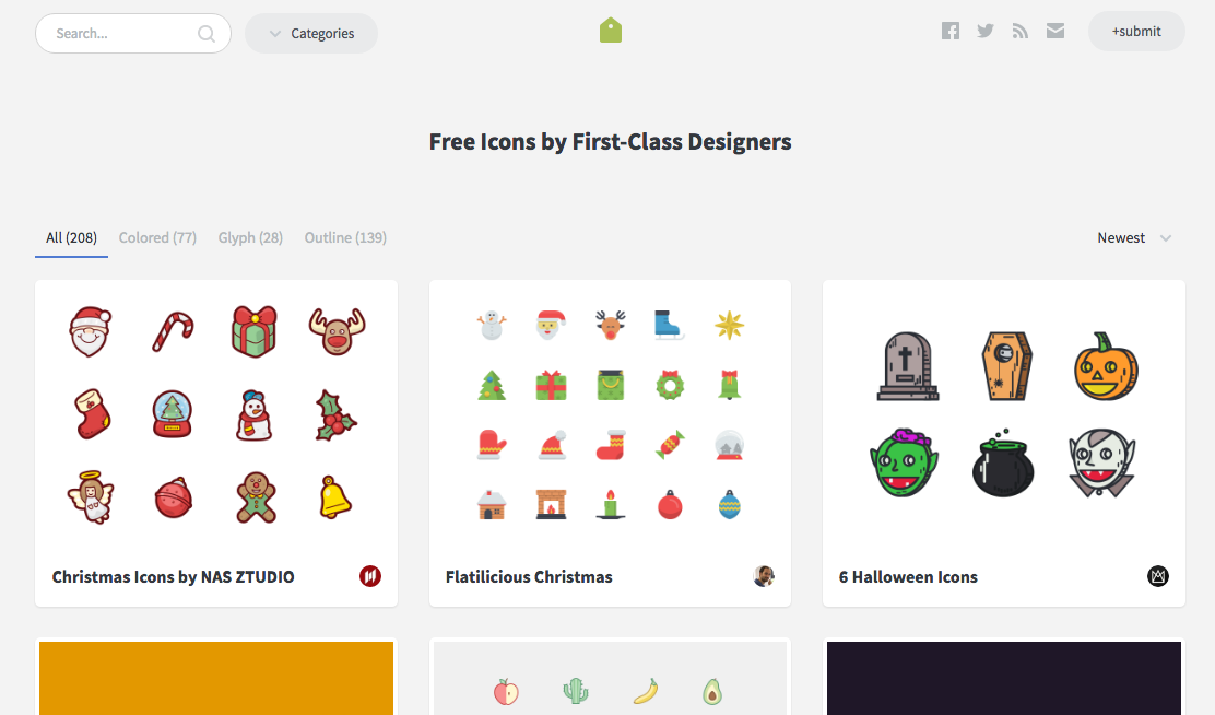 Free Icons by First-Class Designers