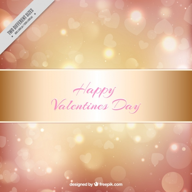 Golden shiny background for valentine's day