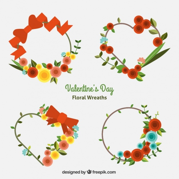 Decorative floral wreaths with different designs