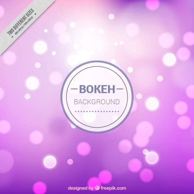 Bokeh background with shiny shapes in different colors