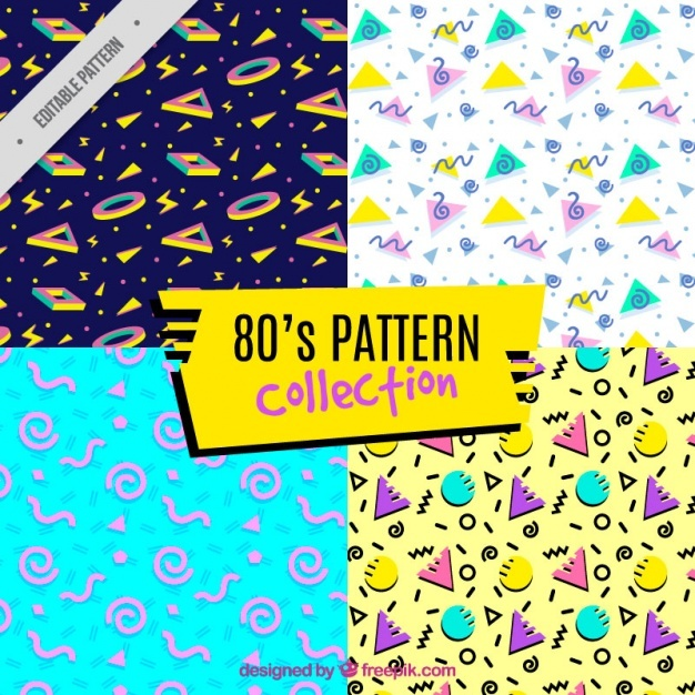4 eighties patterns, full color