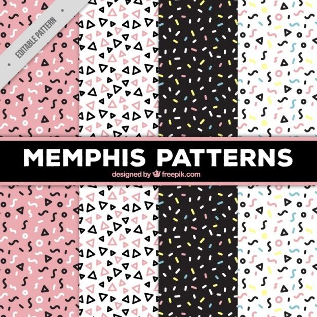 4 memphis patterns