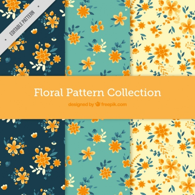 Cute floral pattern collection
