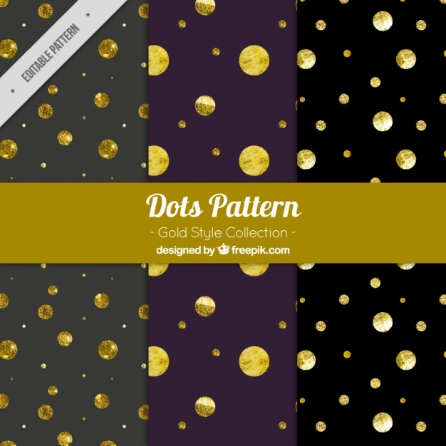 Elegant patterns with golden dots