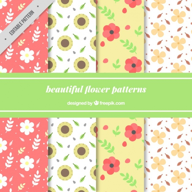 Great patterns of decorative flowers
