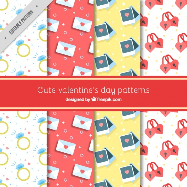 Cute valentine's day patterns