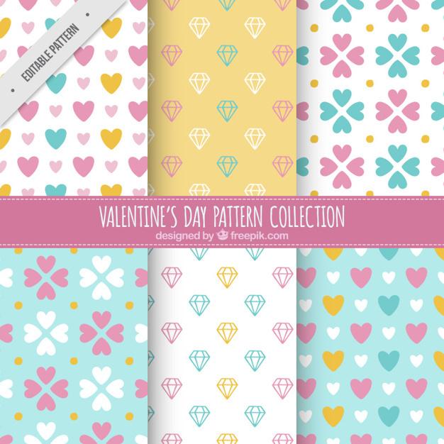 Various valentine's day patterns