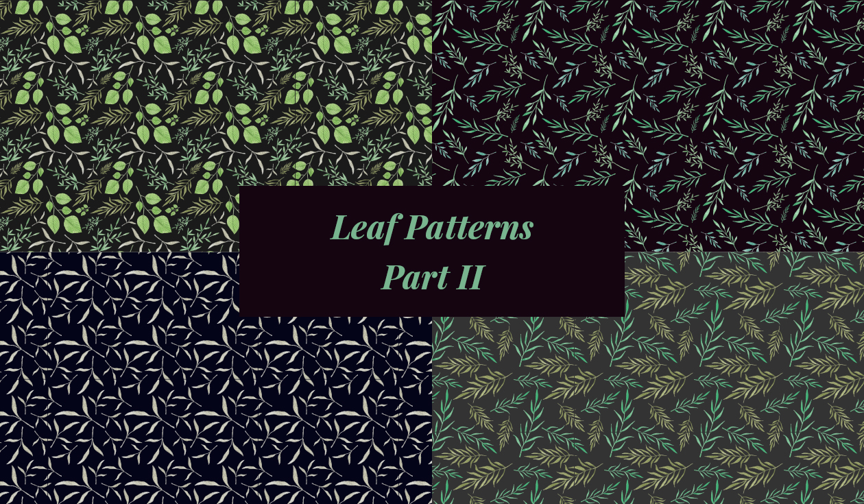 Nature Hand Drawn Vector Leaf Patterns II