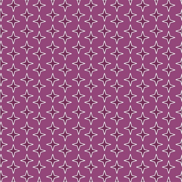 Purple pattern with stars