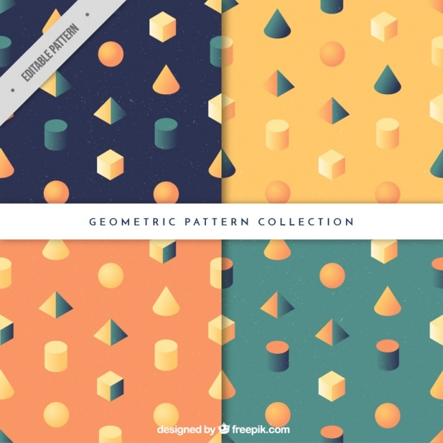 Set of patterns of geometric shapes