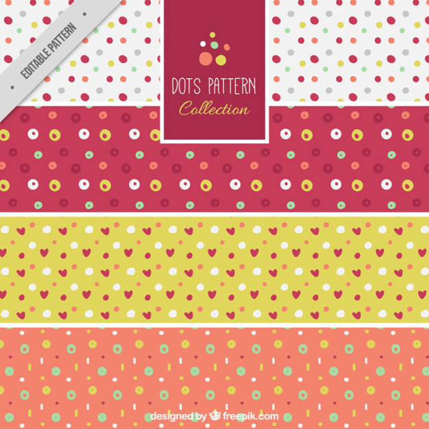 Set of polka dot patterns