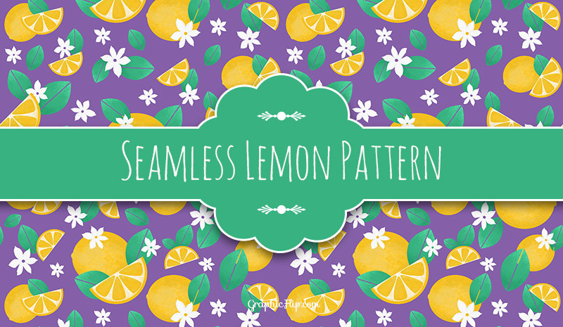 Free Download: Seamless Textured Lemon Pattern
