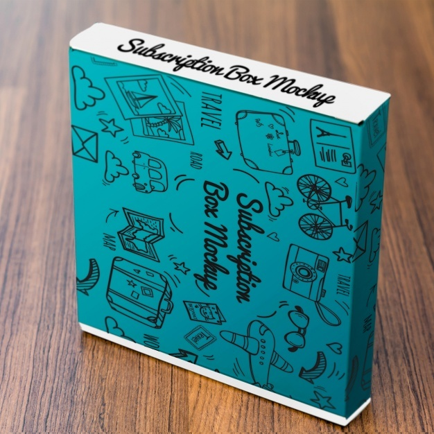 Hand drawn box mock up