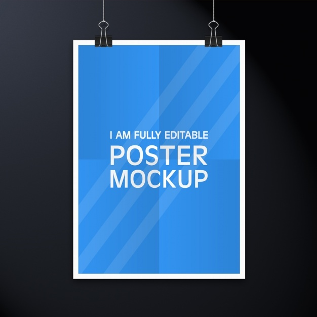 Poster mock up design