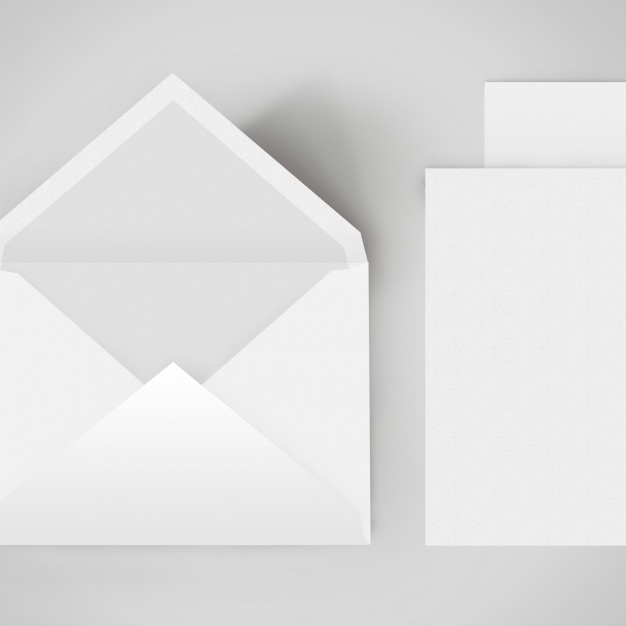 Envelope template design