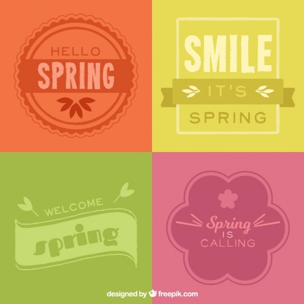 Pack of colored spring badges