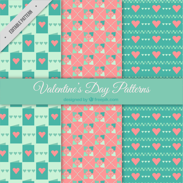 Retro valentine patterns