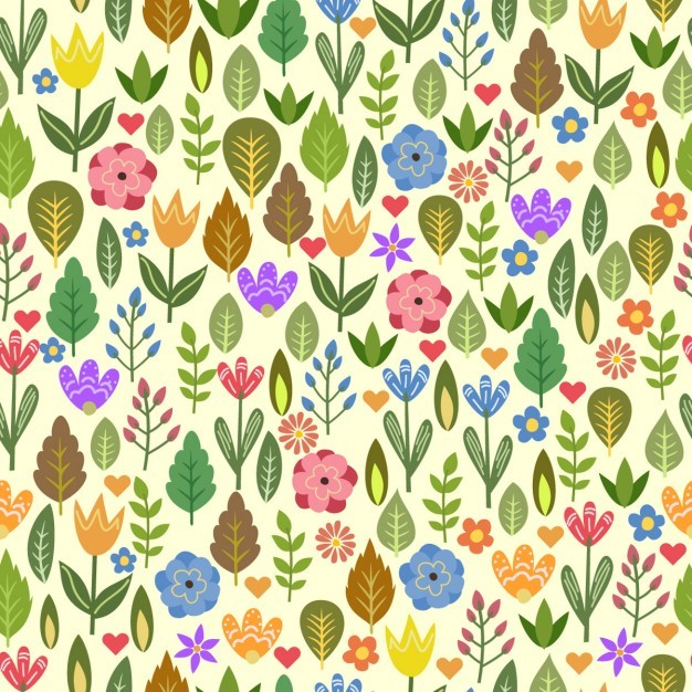 Colorful pattern with beautiful flowers