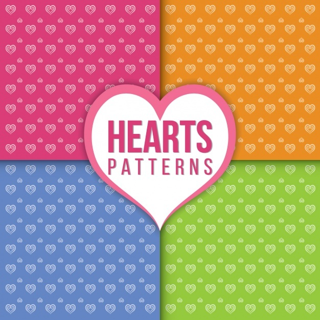 Heart patterns collection