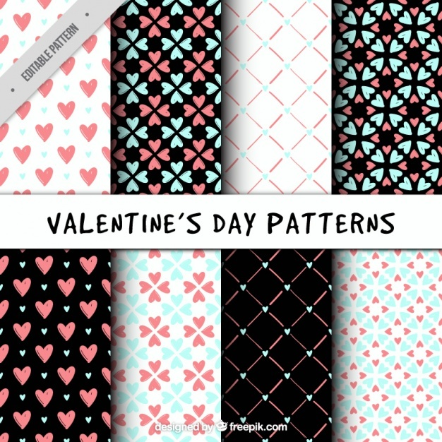 Geometric patterns with hearts