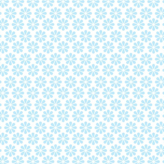Blue flower pattern