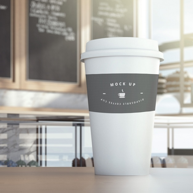 Take away coffee glass mock up